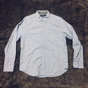 Nautica Blue Button Down Long Sleeve Shirt Medium